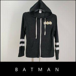 Batman DC Comics Hooded Full Zip Jacket Sz L 13